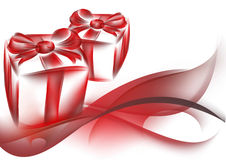 Gift box and abstract background Stock Photos