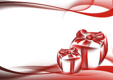 Gift box and abstract background Stock Image