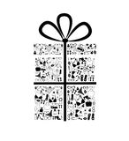 Gift box from  accessories Royalty Free Stock Photography