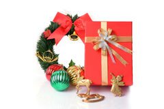 Gift box and accessory Royalty Free Stock Photo