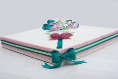 Gift box. Amazing hand made gift box for christmas Royalty Free Stock Photo