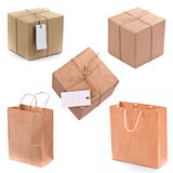 Gift Box And Bags Royalty Free Stock Photos