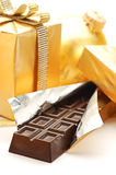 Gift Box And Chocolate Royalty Free Stock Image