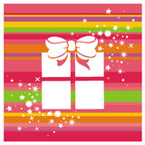 Gift Box And Stars Stock Images