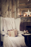 Gift  box on a armchair Royalty Free Stock Photo