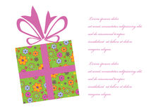 Gift box background. Vector illustration of abstract gift box Royalty Free Stock Images