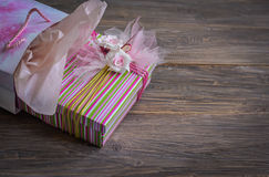 Gift box in the bag . Stock Photo