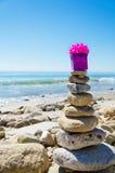 Gift box on Balanced rocks Stock Photos
