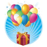 gift box and balloon Royalty Free Stock Photo