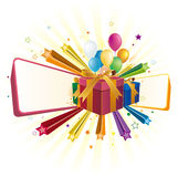gift box and balloon Royalty Free Stock Photography