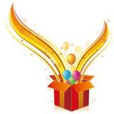 gift box and balloon Stock Image