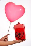 Gift box and balloon Royalty Free Stock Image