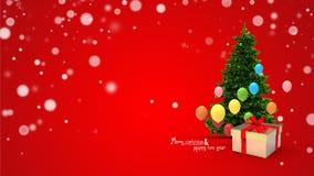 Gift box and balloons Royalty Free Stock Image
