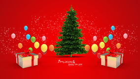 Gift box and balloons Royalty Free Stock Photo