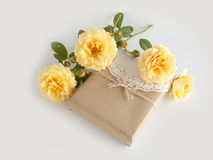 Gift box with beautiful rose Royalty Free Stock Image