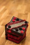 Gift box. Beautiful gift box with smoke on wood Stock Photos