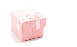 Gift box bed gentle tone Royalty Free Stock Photography