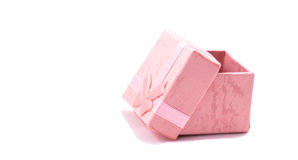 Gift box bed gentle tone Royalty Free Stock Images