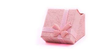 Gift box bed gentle tone Royalty Free Stock Photos