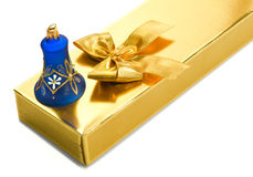 Gift box with bell Royalty Free Stock Images