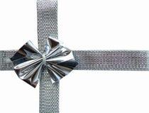 Gift box belt. Gift box with shiny bow Stock Photos