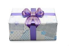 Gift box with big bow ribbon Stock Photo