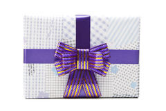 Gift box with big bow ribbon Stock Image