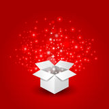 gift box with a big surprise stock illustration