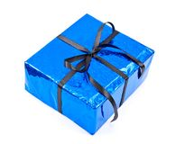 Gift box with black bow Stock Photography