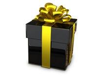 Gift box black Stock Photos