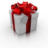 Gift box with a blank card Stock Images