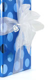 Gift Box in Blue Stock Image