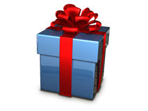 Gift box blue Royalty Free Stock Photo