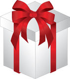 Gift box with bow Stock Images