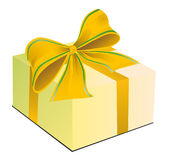 Gift in a box with a bow. Vector illustration Royalty Free Stock Photos