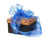 Gift box with bow. Stock Photos