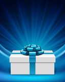 Gift box and bow Royalty Free Stock Images