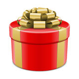 Gift box with bow Stock Photography