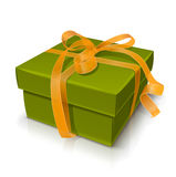 Gift box with bow. Vector illustration on white background eps10 Royalty Free Stock Image