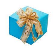 Gift box with bow. Royalty Free Stock Photo