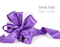 Gift box with a bow Stock Photos