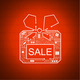 Gift box with a bow of cables Royalty Free Stock Photography