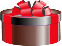 Gift box with bow, decorations Stock Photography