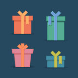 Gift box with bow Royalty Free Stock Image