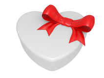 Gift box, bow and heart Royalty Free Stock Images