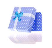 Gift box with bow isolated Stock Photo