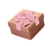 Gift box with bow isolated. On white background Stock Image