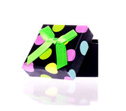 Gift box with bow isolated. On white background Stock Photos