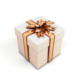 Gift box with bow Stock Photos
