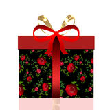 Gift box with bow Royalty Free Stock Images